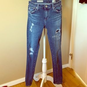 Adriano Goldscmied shredded ankle legging jean